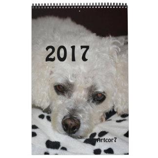 2017 Kalender-weiße Abreißkalender