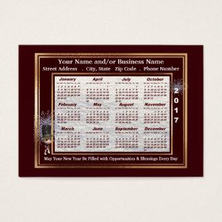 2017 neues Jahr-Gruß-Visitenkarte-Kalender Visitenkarte