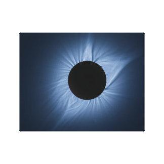 2017 Sonnenfinsternis - Krone des Sun Leinwanddruck