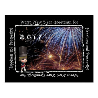 2017 warme neues Jahr-Gruß-Postkarte Postkarte