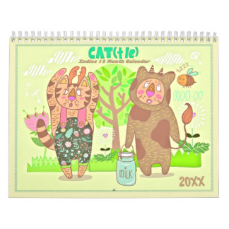 2018 der Tierkreis-Katzen-Kalender Wandkalender