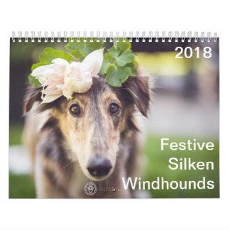 2018 festliches seidenes Windhounds Kalender