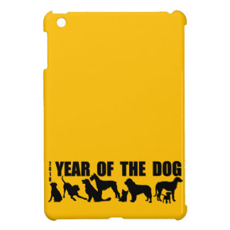 2018 Year of The Dog Silhouette Yellow iPad case