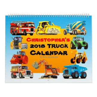2018 Kinderbau-LKW-Kalender Kalender