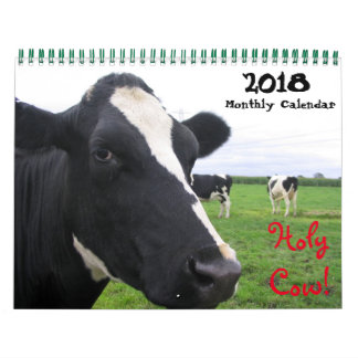 2018 Monatskuh-Wandkalender-Färsen-Vieh-Kühe Kalender