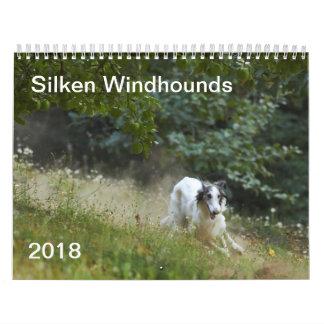 2018 seidenes Windhounds (Laufen) 5 Abreißkalender