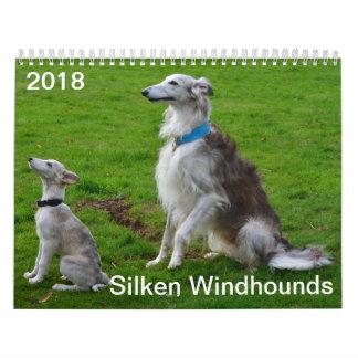 2018 seidenes Windhounds (mehrfache Hunde) Abreißkalender