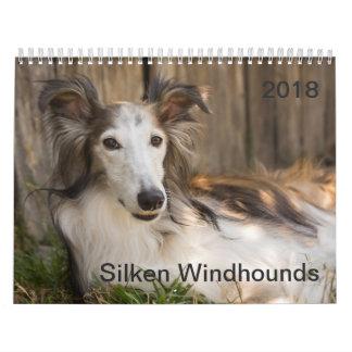 2018 seidenes Windhounds (Stützen) Wandkalender
