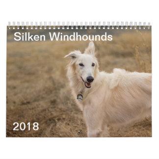 2018 seidenes Windhounds (voller Körper) 3 Kalender