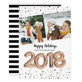2018 Weihnachtsfeiertag | der Ballon-| 2 Karte