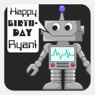 20 alles- Gute zum Geburtstagpersonalisierte Quadratischer Aufkleber
