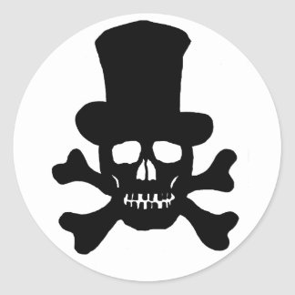 20 Aufkleber-Gift-Totenkopf mit gekreuzter Runder Aufkleber