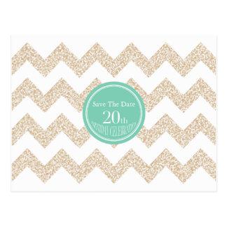 20. Geburtstags-Party - Save the Date - wählen Sie Postkarte