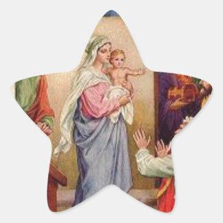 20 Stern-Aufkleber Mary und Jesus Stern-Aufkleber