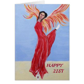 21. Geburtstag Karte