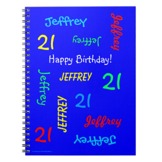 21. Geburtstags-Party-blaues Gast-Buch, Notizblock