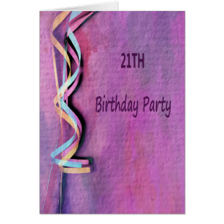 21. Geburtstags-Party Karte