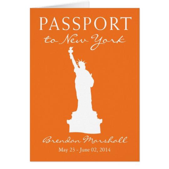 21. Geburtstags-Pass New York City Mitteilungskarte