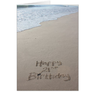 21. Geburtstags-Strand-Karte Grußkarte