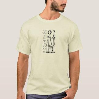 21 zwanzig ein u. legale Typografie T-Shirt