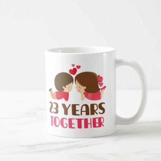 23. Jahrestags-Geschenk für sie Kaffeetasse