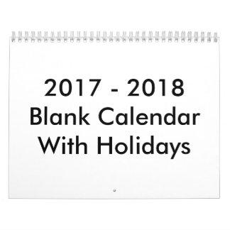 24 Monate des leeren Kalender-2017 - 2018 mit Kalender