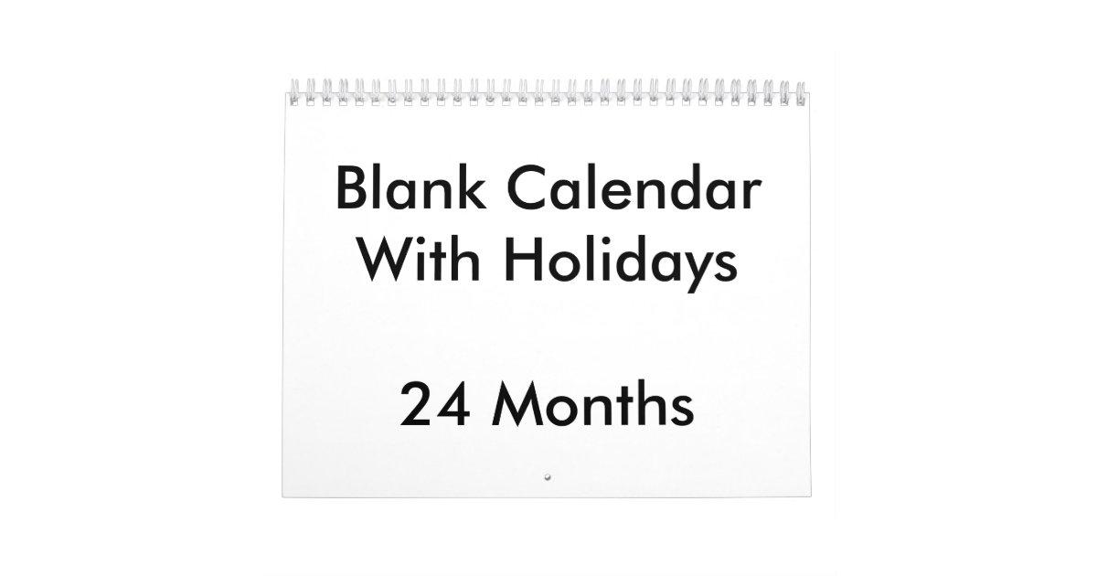 24 monate leere kalender mit feiertagen abrei kalender. Black Bedroom Furniture Sets. Home Design Ideas