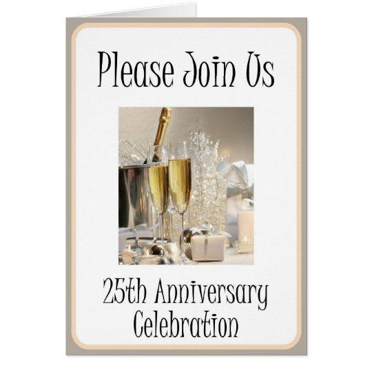 25. der Jahrestags-Party Einladung der Diva Grußkarte