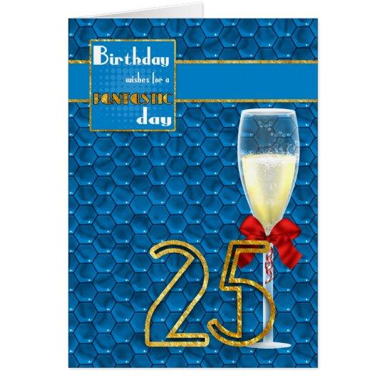 25. Geburtstag - geometrische Geburtstags-Karte Grußkarte
