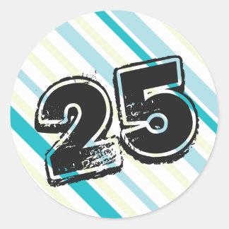 25. Geburtstags-themenorientierte Aufkleber