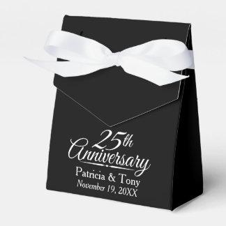 25. Hochzeits-Jahrestag personalisiert Geschenkkartons
