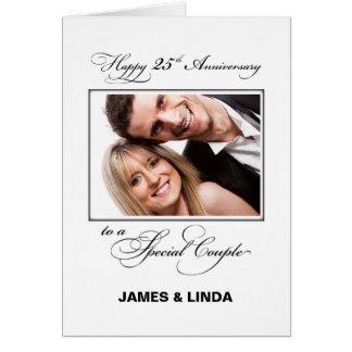 25. Hochzeits-Jahrestags-individueller Name u. Karte