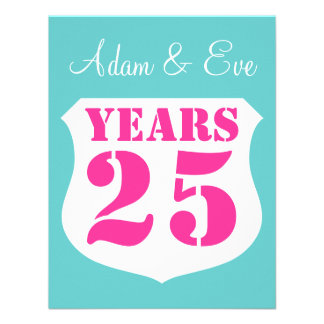 25 Hochzeitsjahrestags-Party Einladungen modern