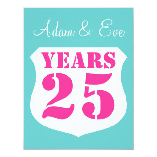 25. Hochzeitsjahrestags-Party Einladungen modern