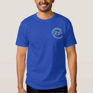 25. Hochzeitstag-Feier Besticktes T-Shirt