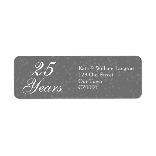 25. Hochzeitstag silberner Stardust Confetti