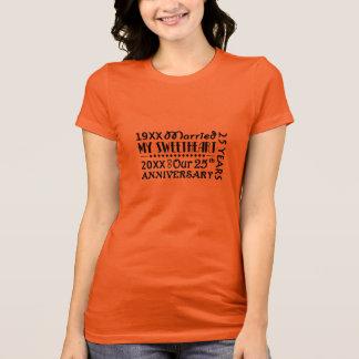 25. Hochzeitstag Stolz-Geschenk T-Shirt