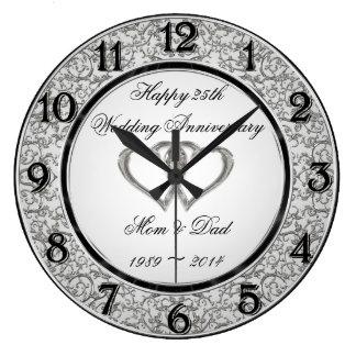 25. Hochzeitstag-Wanduhr Uhr