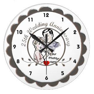25. Hochzeitstag-Wanduhr Uhren