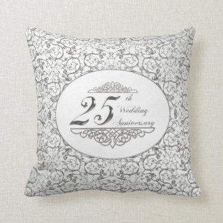 25. Hochzeitstag-Wurfs-Kissen Zierkissen