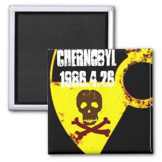 25. Jahrdenkmal Tschornobyls Quadratischer Magnet
