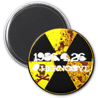 25. Jahrdenkmal Tschornobyls Runder Magnet 5,1 Cm