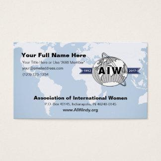 25. Jahrestags-Logo auf AIW Visitenkarte