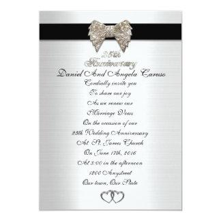 25. Jahrestagseinladung formal Karte