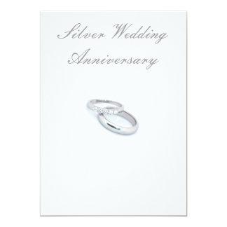 25. Silberner Hochzeitstag 12,7 X 17,8 Cm Einladungskarte