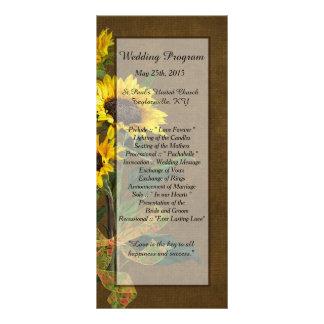 25 Sommer-Sonnenblume-Leinwand-Hochzeits-Programme Werbekarte