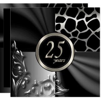 25ème invitation de fête d'anniversaire de beau