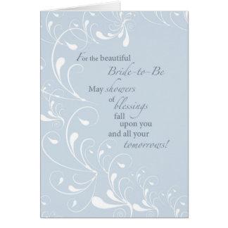 2600 Brautparty-Wirbels-Glückwünsche Karte