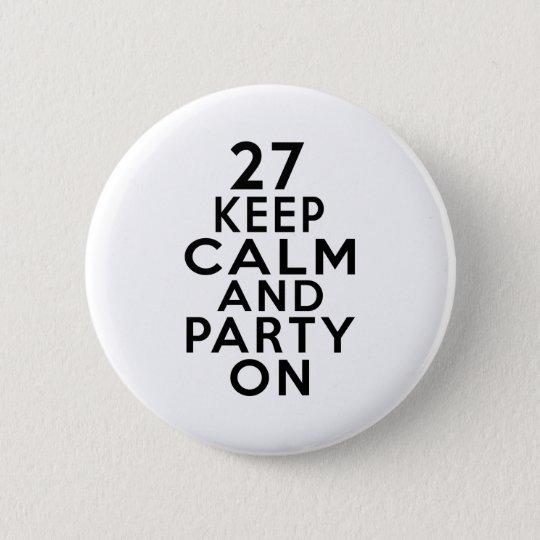 27 Geburtstagsentwürfe Runder Button 5,7 Cm