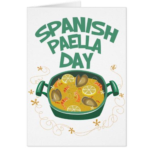 27. März - spanischer Paella-Tag Karte